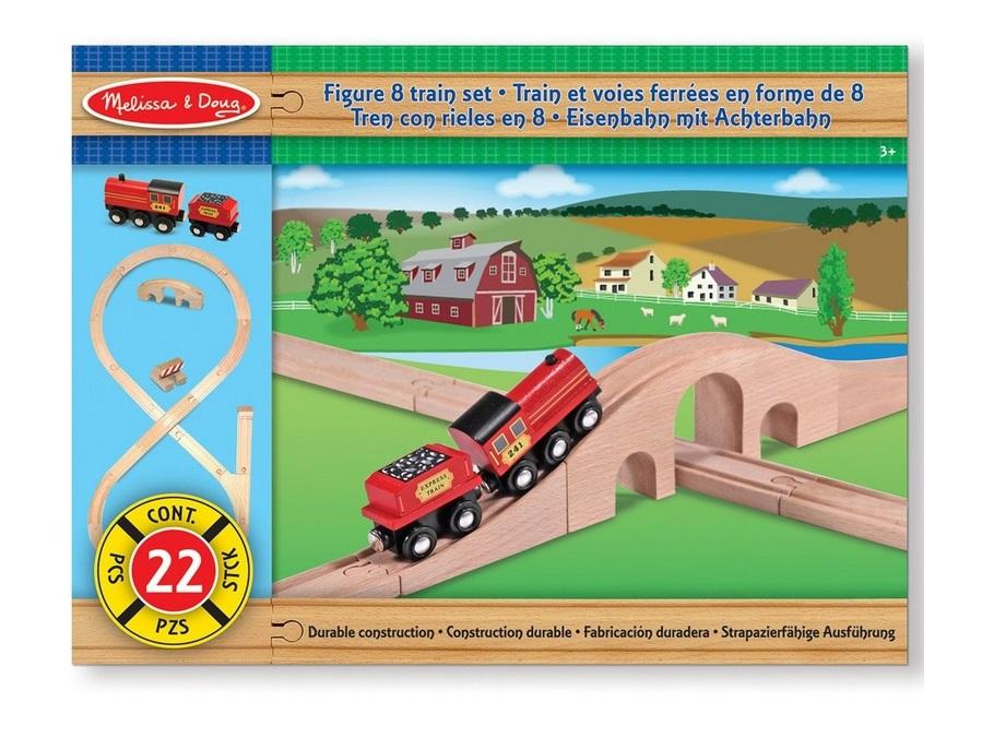 Duży zestaw torów z pociągiem - Melissa i Doug