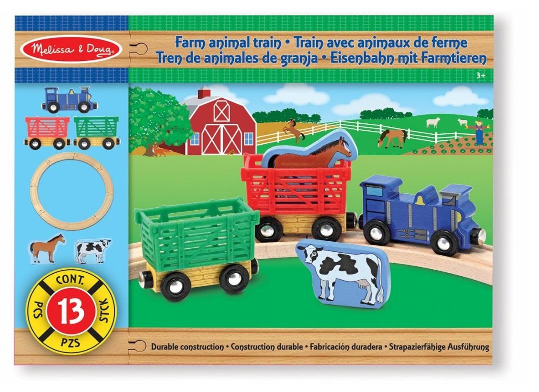 Farma - zestaw kolejowy ze zwierzątkami - Melissa i Doug