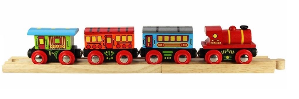 Pociąg pasażerski z trzema wagonami - Bigjigs