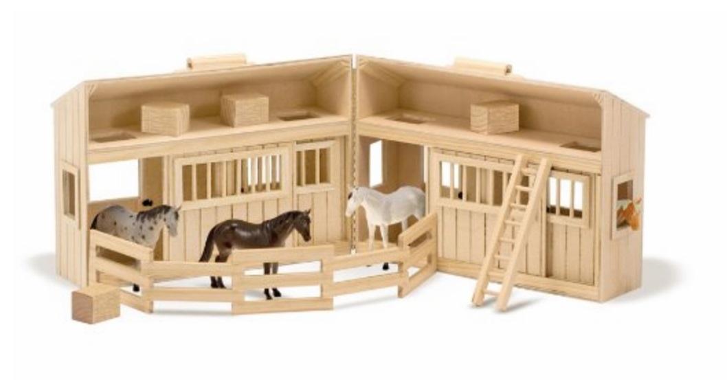 Stajnia duża + konie - Melissa i Doug