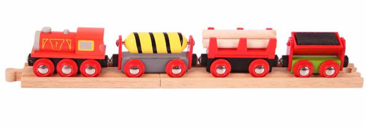 Pociąg towarowy z drewnem - Bigjigs