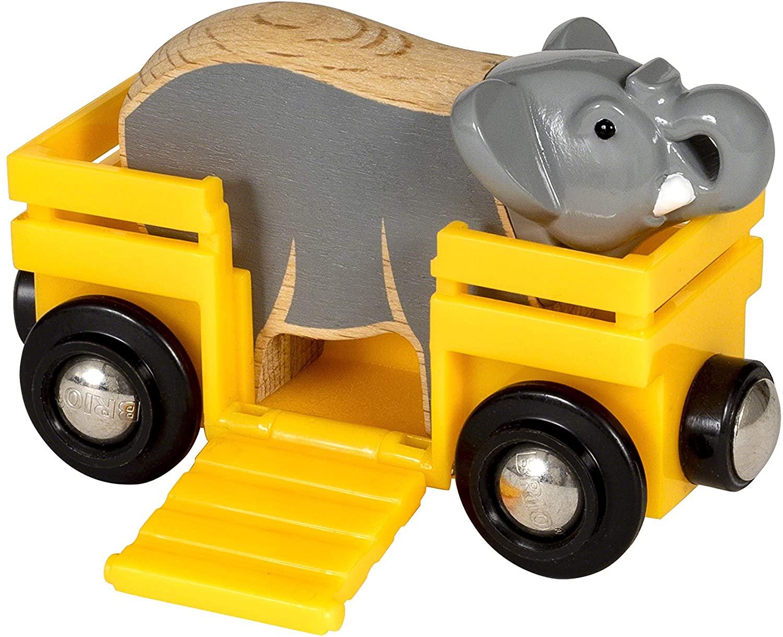 Wagon ze słoniem - Brio
