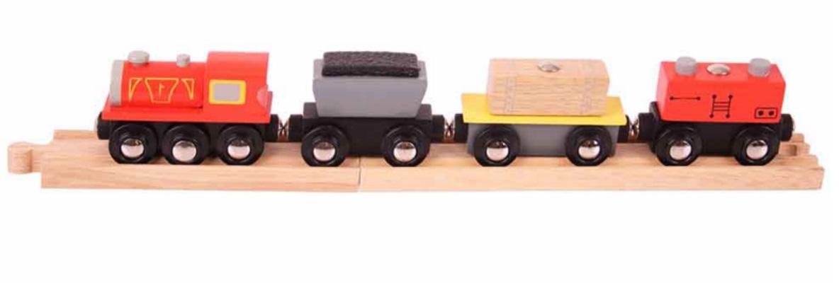 Pociąg towarowy ze skrzynią - Bigjigs