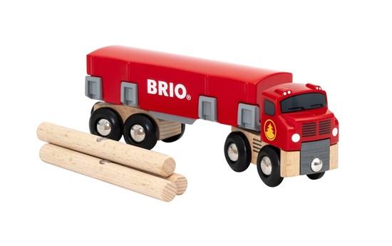 Ciężarówka do przewozu drewna z obudową - Brio