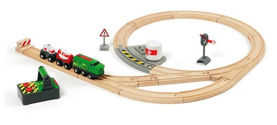 Bocznica kolejowa - przemysłowa z lokomotywą na pilota - Brio