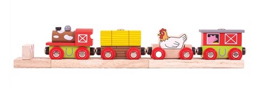 Pociąg z kurą farmera - Bigjigs